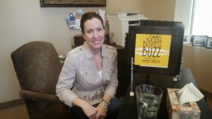 Career coach Kelly Lewis interviews on The Small Business Buzz Podcast